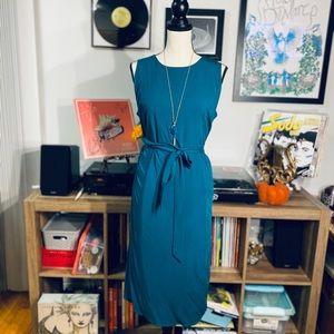 Sleek Turquoise Wrap Dress🔥